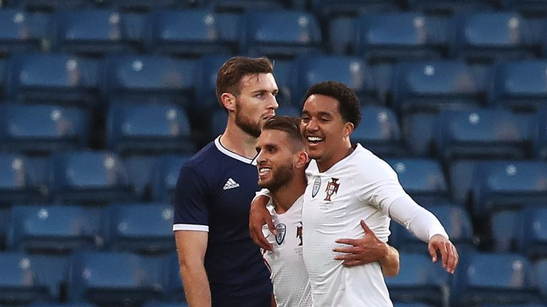 Portugal inflicted a fifth defeat on Scotland in their last six games at a sparsely-populated Hampden Park
