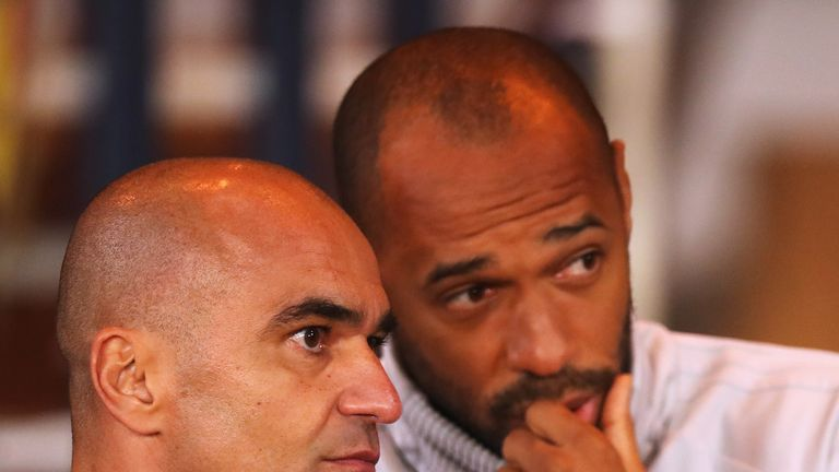 Roberto Martinez's Belgium assistant Thierry Henry remains the prime candidate to succeed Steve Bruce at Aston Villa