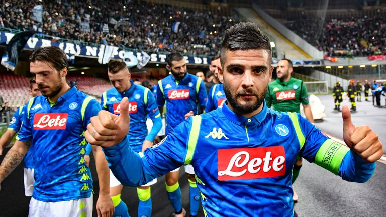 Lorenzo Insigne celebrates his 90th minute winner