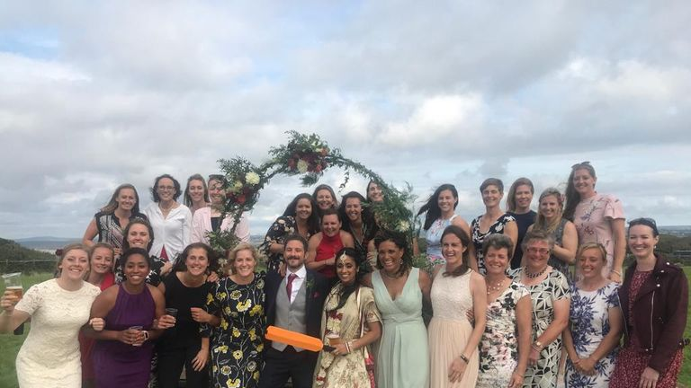 Danni and her England team-mates were in attendance as Isa Guha tied the knot this summer