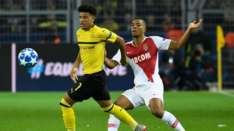 Dortmund wonder-kid Sancho happy in Germany