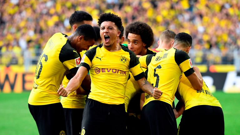 Jadon Sancho has been in fine form for Borussia Dortmund
