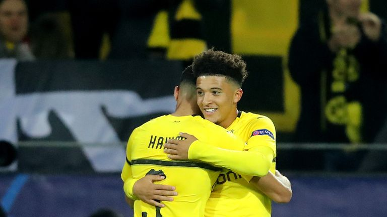during the Group A match of the UEFA Champions League between Borussia Dortmund and Club Atletico de Madrid at Signal Iduna Park on October 24, 2018 in Dortmund, Germany.