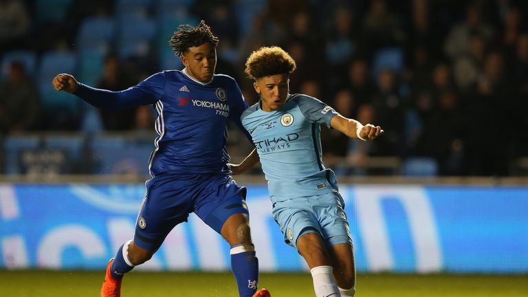 Jadon Sancho found his pathway to first-team football blocked at Manchester City