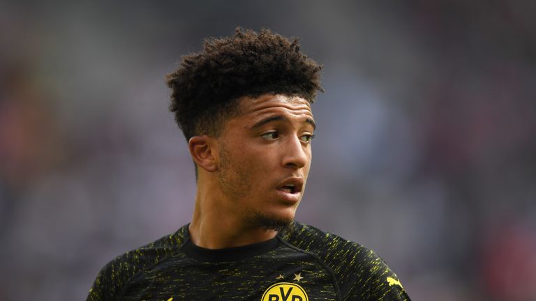 Borussia Dortmund winger Jadon Sancho made his England debut against Croatia earlier this month