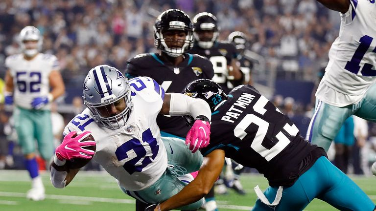 Jacksonville Jaguars gave up 206 rushing yards against the Dallas Cowboys