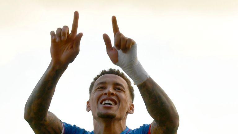 Tavernier celebrates Rangers away win