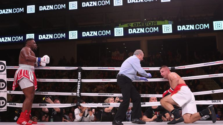 Adamek was counted out by the referee in the second round