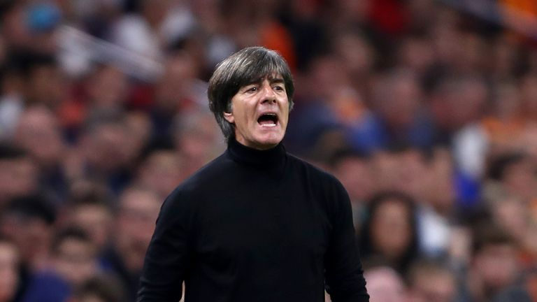 Joachim Low during the UEFA Nations League A group one match between Netherlands and Germany at Johan Cruyff Arena on October 13, 2018 in Amsterdam, Netherlands.