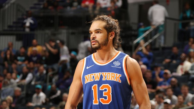 2fbf438982c Joakim Noah  13 of the New York Knicks looks on during the NBA game against