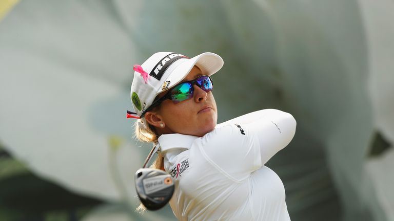 Jodi Ewart Shadoff is three shots off the lead