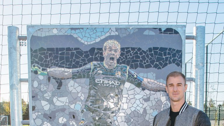 Joe Hart has had a pitch at Manchester City's training ground dedicated to him