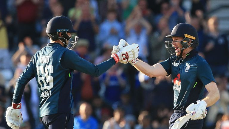 Joe Root and Eoin Morgan were the leading run-scorers for England against India