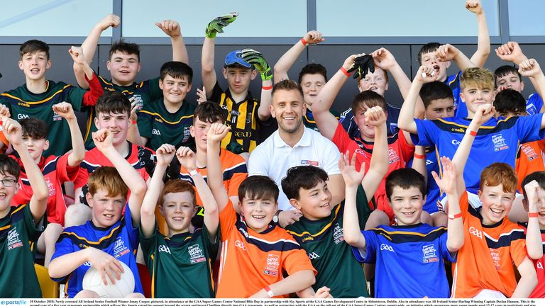 Cooper was in attendance at the GAA Super Games Centre National Blitz Day in partnership with Sky Sports at the GAA Games Development Centre in Abbotstown, Dublin