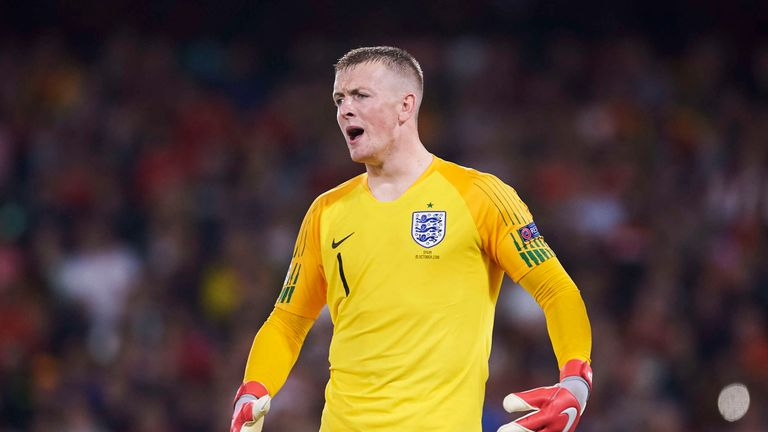 Jordan Pickford remains as England's first choice goalkeeper