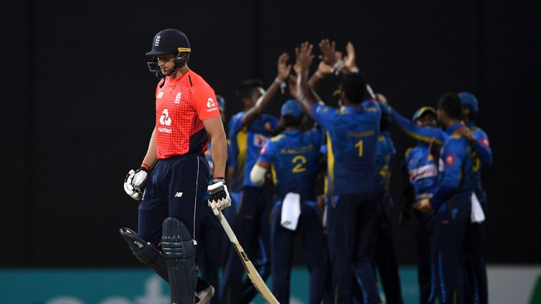 during the 5th One Day International match between Sri Lanka and England at R. Premadasa Stadium on October 23, 2018 in Colombo, Sri Lanka.