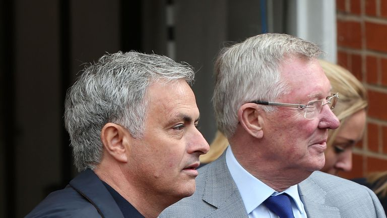Mourinho (left) is the third permanent United manager since Sir Alex Ferguson's retirement