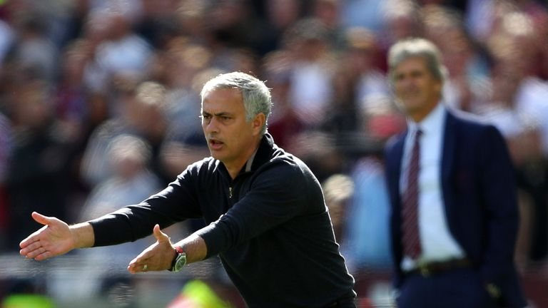 United boss Jose Mourinho queried two of West Ham's goals on Saturday