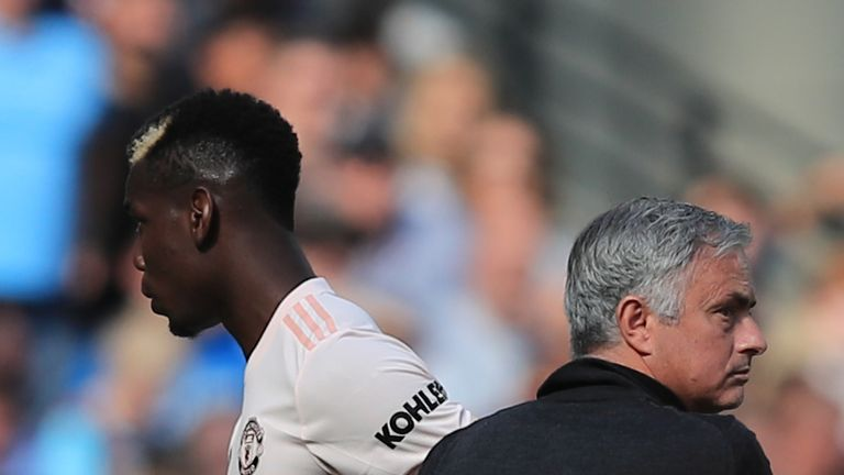 Paul Pogba and Jose Mourinho have not seen eye to eye recently