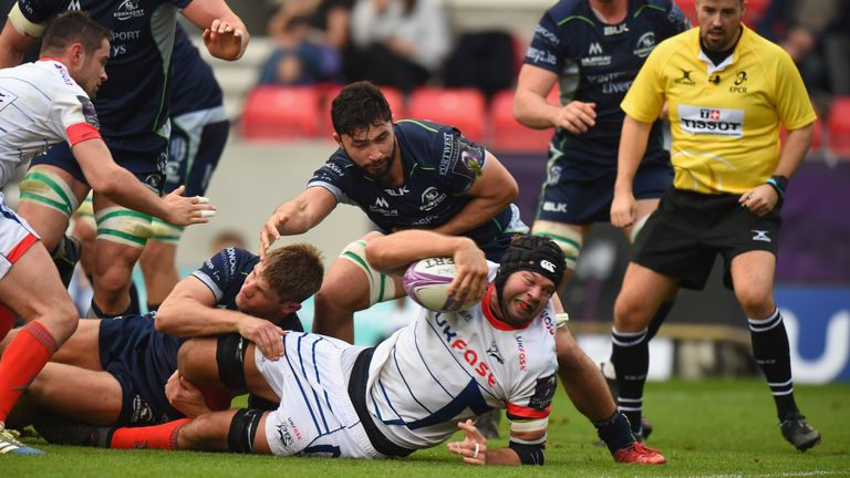 Josh Beaumont scored a second half try as Sale recorded a bonus-point win over Connacht