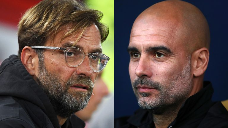 Jurgen Klopp and Pep Guardiola go head to head at Anfield this weekend