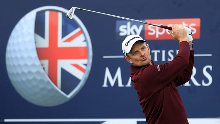 Justin Rose stumbled to a 74 - two over for the first day