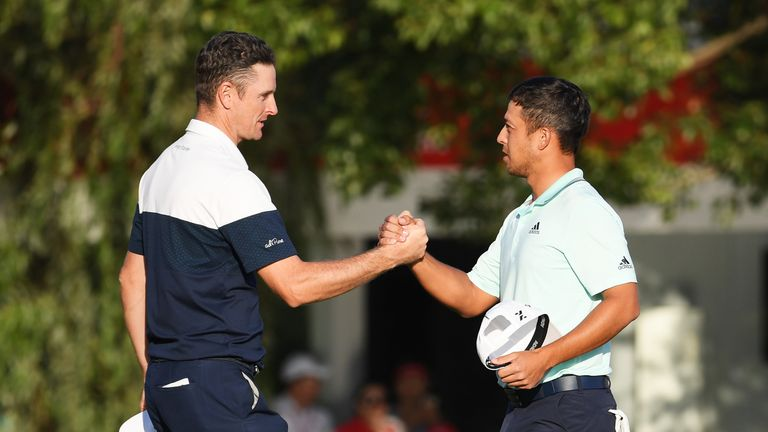 Rose finished third as Xander Schauffele claimed victory