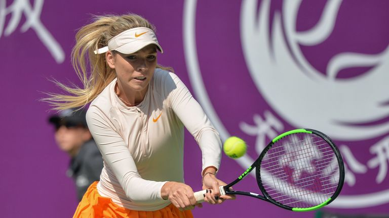 Britain's Katie Boulter was beaten in the quarter-finals of the Tianjin Open