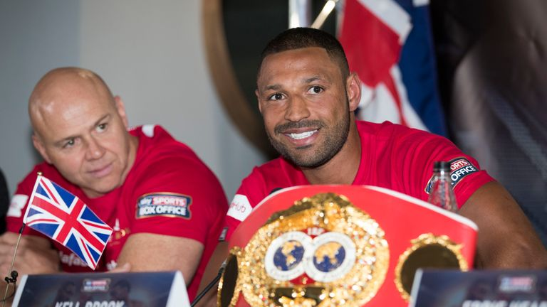 Kell Brook has denied reports he has fallen out with trainer Dominic Ingle