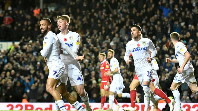 Kemar Roofe and his Leeds team-mates face trips to Aston Villa and Nottingham Forest during the festive period