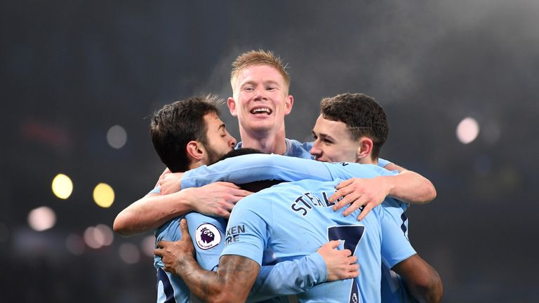 Kevin De Bruyne celebrates City win