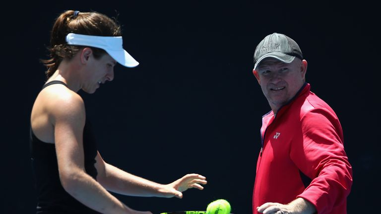 Johanna Konta splits with Michael Joyce - her third coach in three years