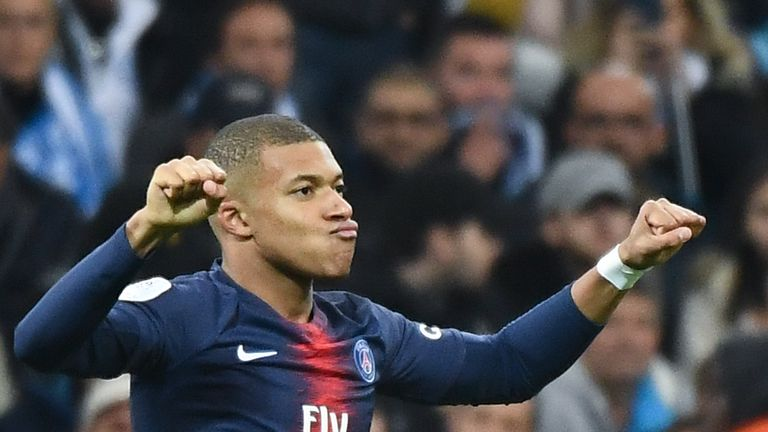 Kylian Mbappe will lead the line for PSG at Old Trafford