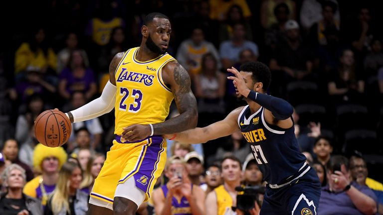 Lebron James loses on Los Angeles Lakers debut v Denver Nuggets | NBA News  | Sky Sports