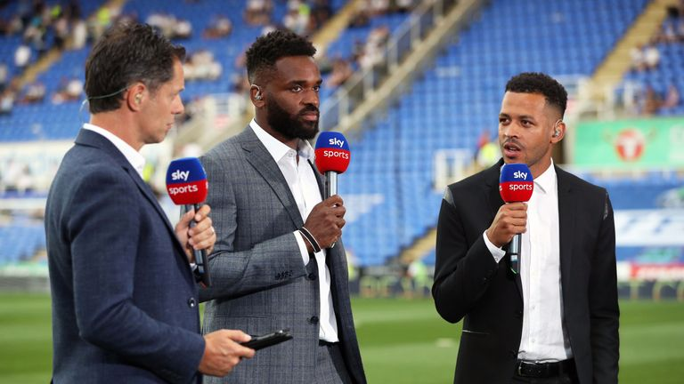 Sky Sports pundit Liam Rosenior before the Sky Bet Championship match at the Madejski Stadium on August 3, 2018