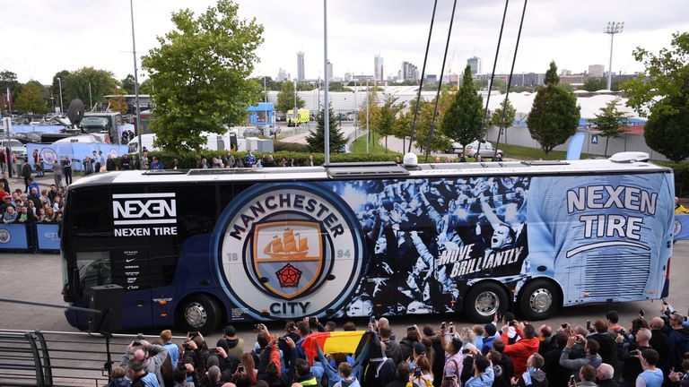 Manchester City's team bus was fitted with cameras at the start of the season