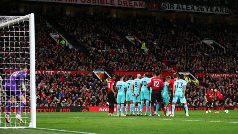 Mata began the comeback at Old Trafford with a pinpoint free-kick