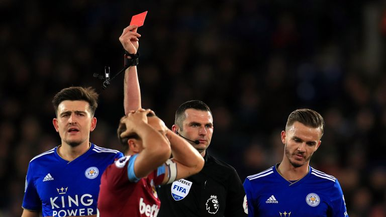 West Ham skipper Mark Noble has been sent off five times so far in his top-flight career