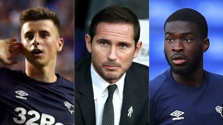 Mason Mount, Frank Lampard, Fikayo Timori Derby County
