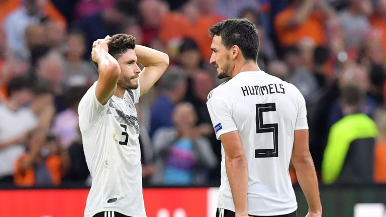 Germany's defence struggled with set-pieces and Dutch counter-attacks