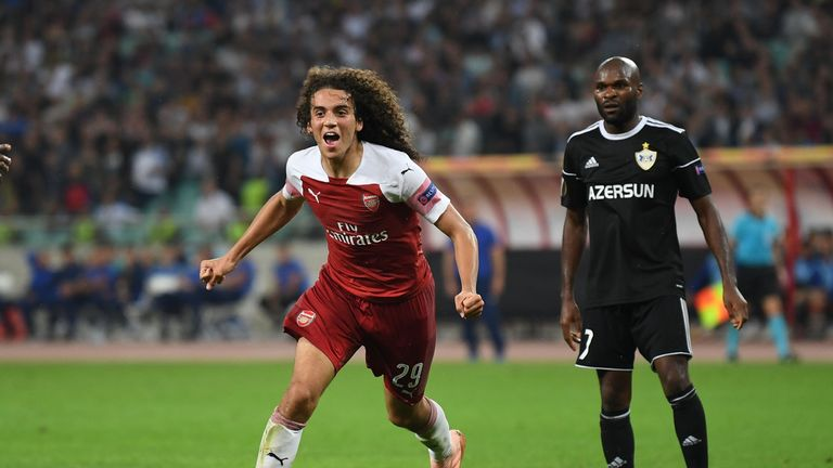 Matteo Guendouzi made it 3-0 to Arsenal
