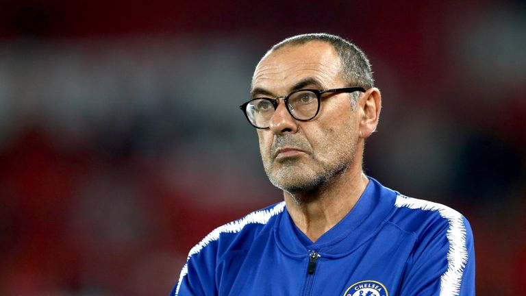 Maurizio Sarri will rotate his Chelsea side ahead of facing Southampton