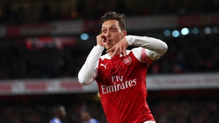 Mesut Ozil put in a fine display in the win over Leicester on MNF