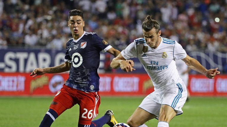 Miguel Almiron featured for the MLS All-Stars against Real Madrid in 2017
