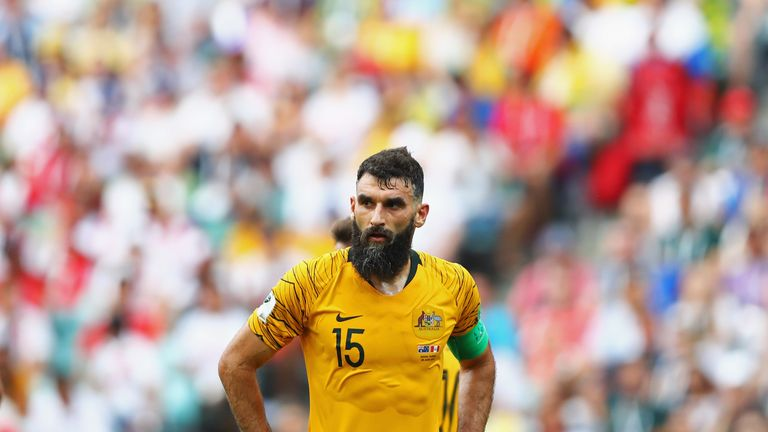 Mile Jedinak captained Australia at this summer's World Cup