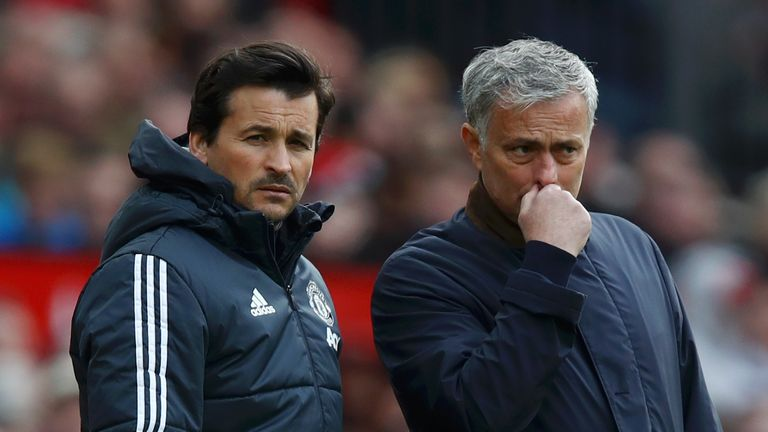 Mourinho has struggled in the absence of Faria at Manchester United
