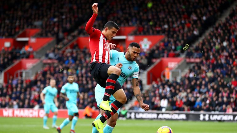 Jamaal Lascelles was the game's stand-out player for his dogged defending