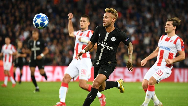 Neymar scored a hat-trick for PSG in their 6-1 win over Red Star Belgrade earlier this month
