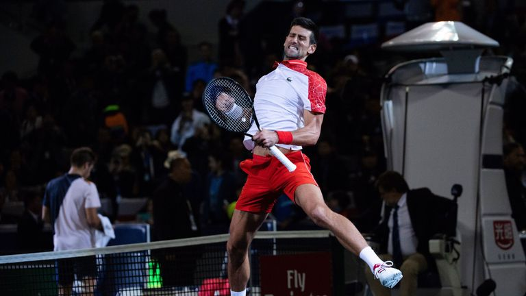 Djokovic hails family after Shanghai win