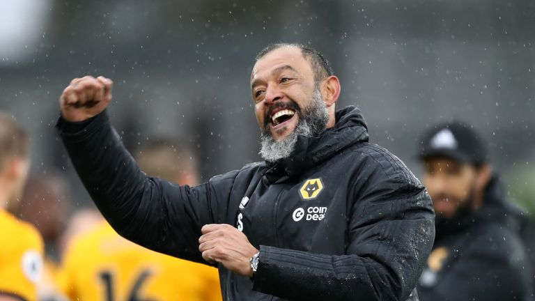 Nuno's Wolves are 10 points ahead of Fulham, who also came up last season, and 13 ahead of Cardiff